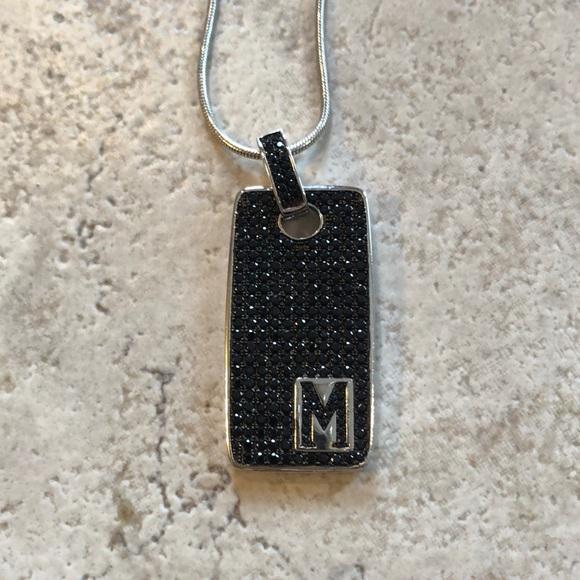 bronzo italia Jewelry - Bronzo Italia M initial necklace silver. Brand new